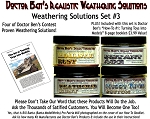 4-Jar Weathering Solution Set #3 w/HOW-TO Booklet #1-Doctor Ben's Scale Consortium