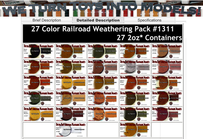 Doctor Ben's Industrial Weathering Pigment 27 Color Set
