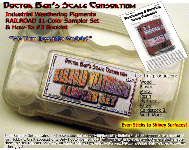 *NEW* Doctor Ben's 4-Piece Special Weathering Solution Set-4-4 oz Bottles!