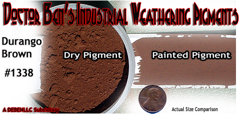DOCTOR BEN'S Brownstone Weathering Pigment Plastic/Metal/Resin 2oz-*NEW* #1338